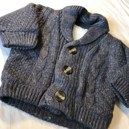 0-3 Month Fur Lined Cardigan